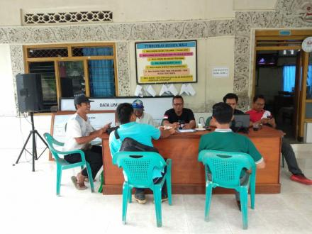 Rapat Pleno Terbuka Penyusunan dan Rekapitulasi Daftar Pemilih Tambahan (DPTB) Tingkat Desa