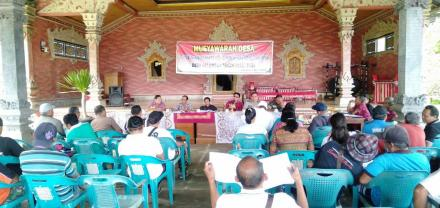 Musyawarah Desa Perencanaan Desa dan Pembentukan TIM Penyusunan RPJM Desa Tahun 2020-2025